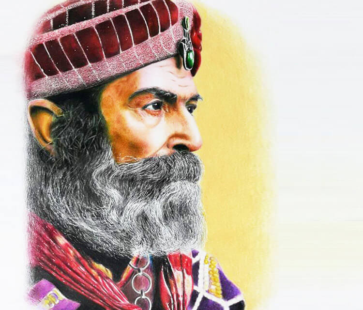 Sultan pen drawing by Mostafa Mosad Khodeir