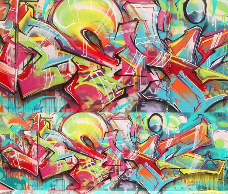 Graffiti mural graffiti by Mr Shiz