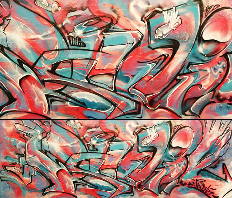 Graffiti mural 2 by Mr Shiz