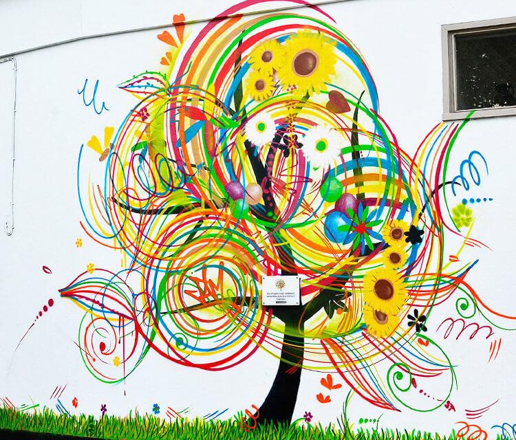 Jam Tree Streetart by Mr Shiz