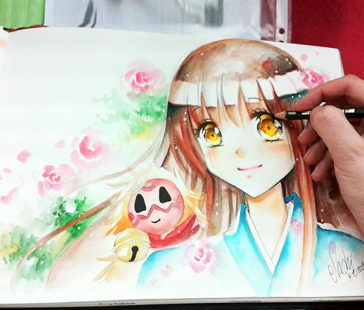 Caydance drawing by Naschi