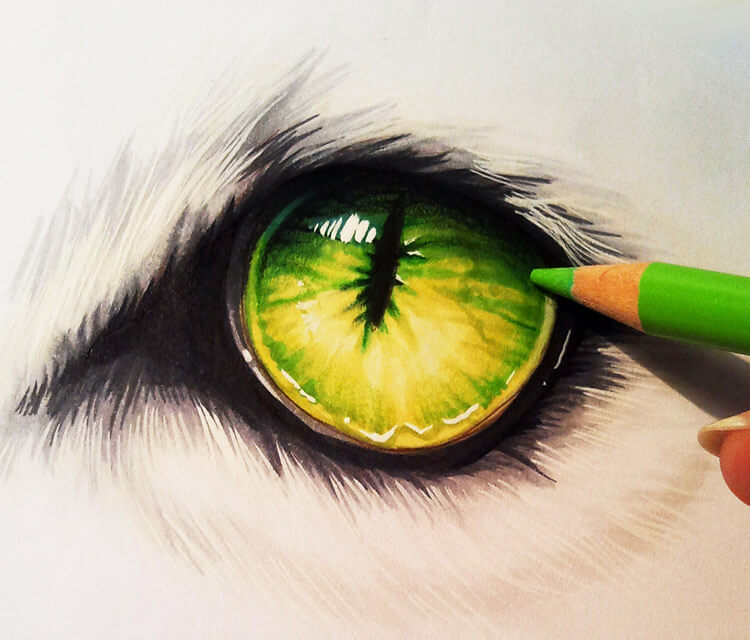 Creature eye Drawing by Naschi
