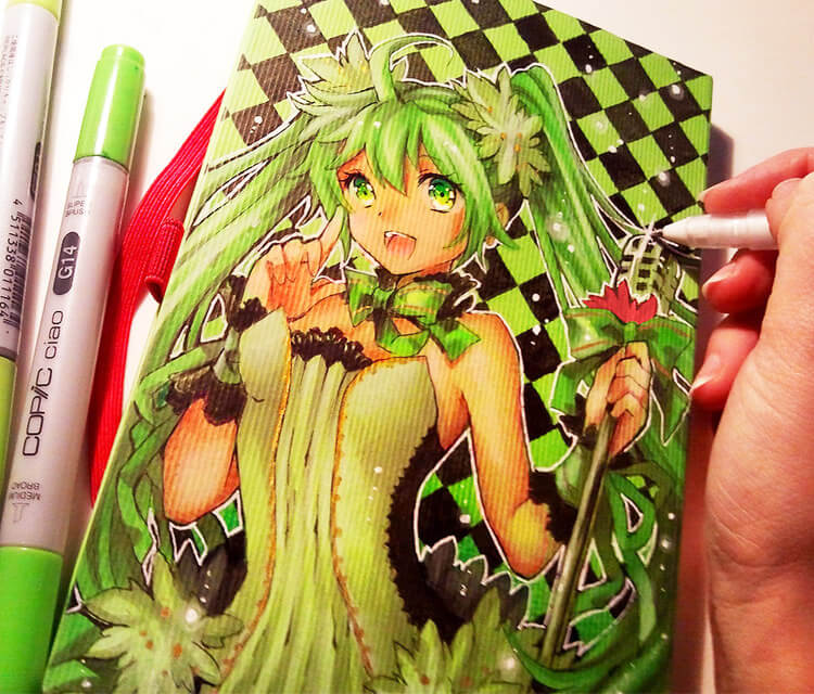Hatsune Miku drawing by Naschi