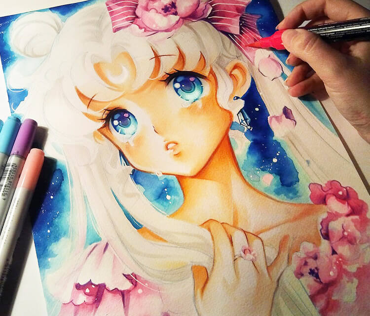 Sailor Moon, Princess Serenity by Nashi