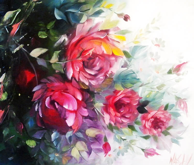 Soul garden Flowers painting by Naschi