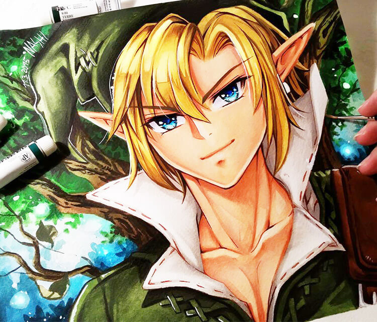 Zelda painting by Naschi