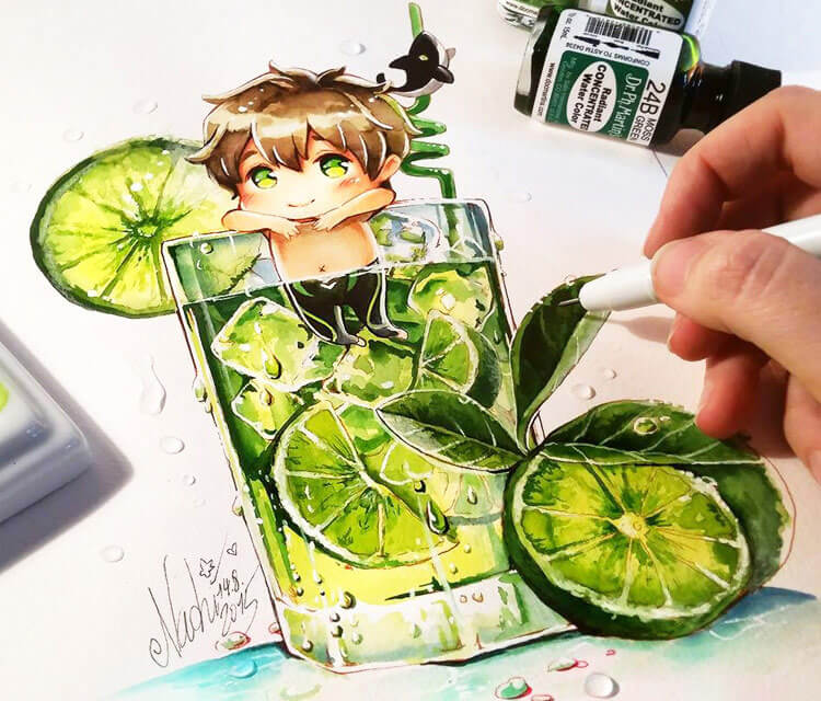 Makoto Tonic drawing by Naschi Art