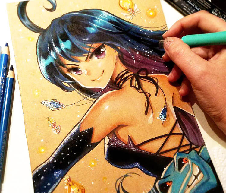 Trick from Witches color drawing by Naschi Art