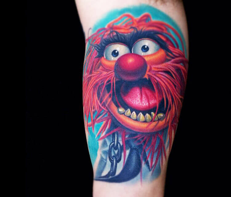 Animal drummer tattoo from Muppets by Nikko Hurtado