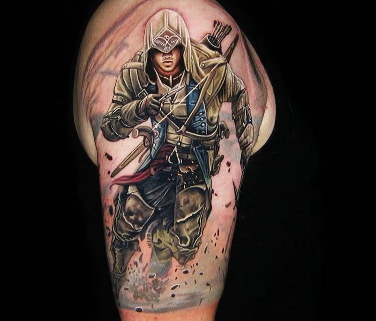 Assassins Creed Tattoo By Nikko Hurtado No 3398