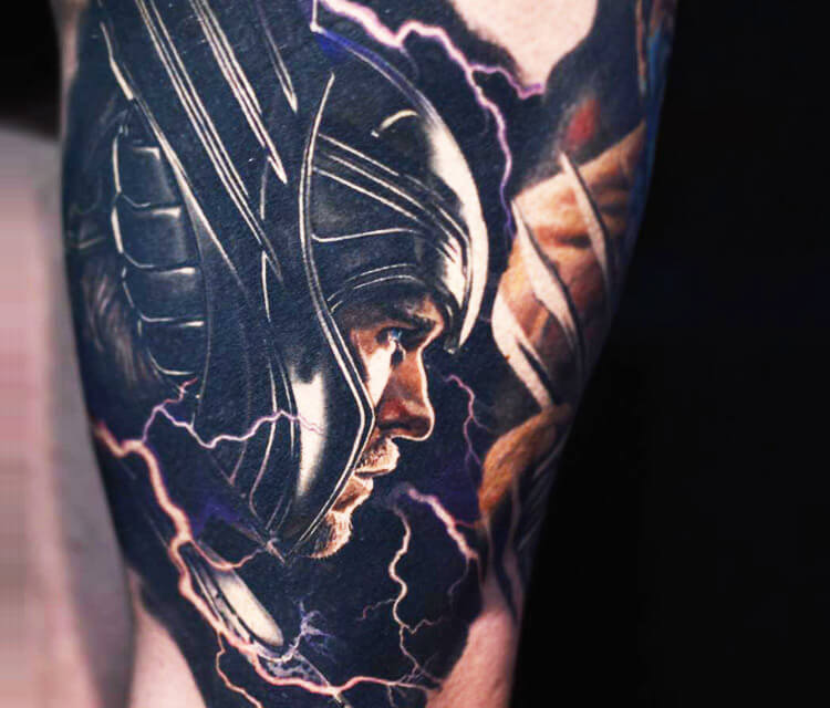 Avanger Thor tattoo by Nikko Hurtado