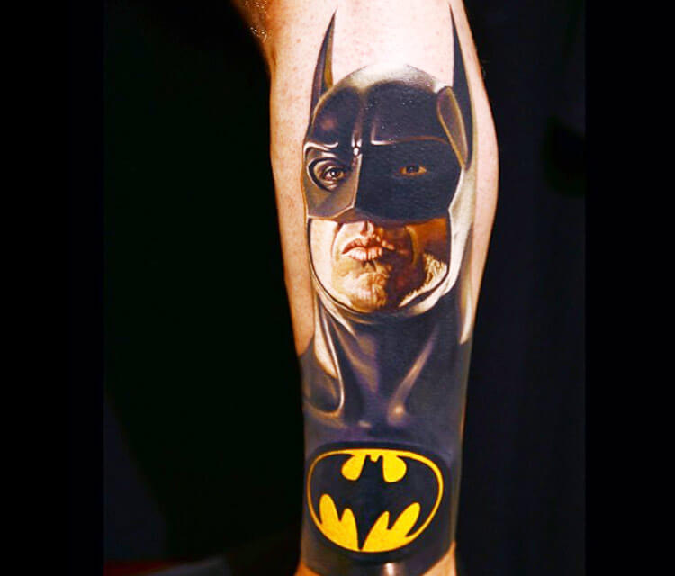 Batman tattoo by Nikko Hurtado