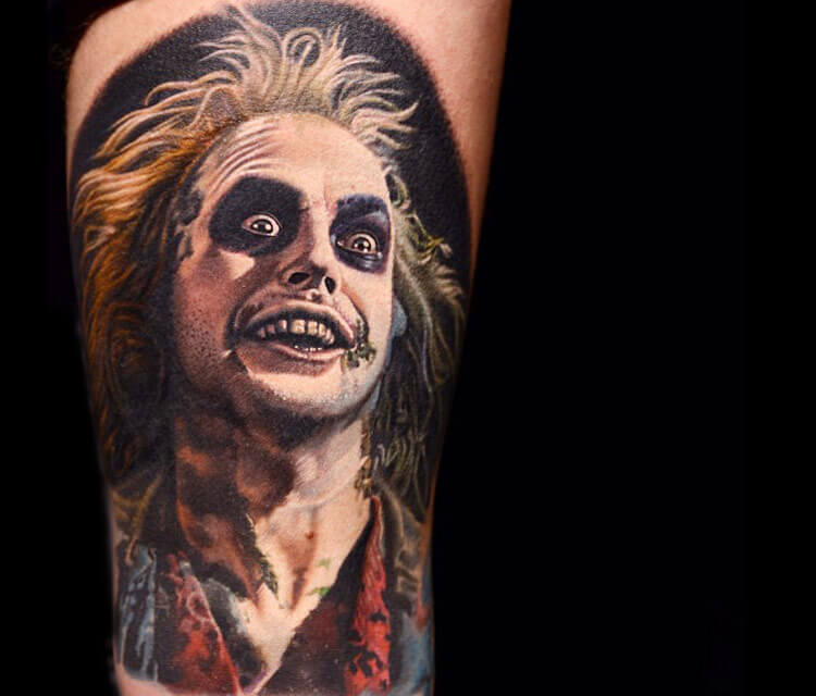Beetlejuice tattoo by Nikko Hurtado