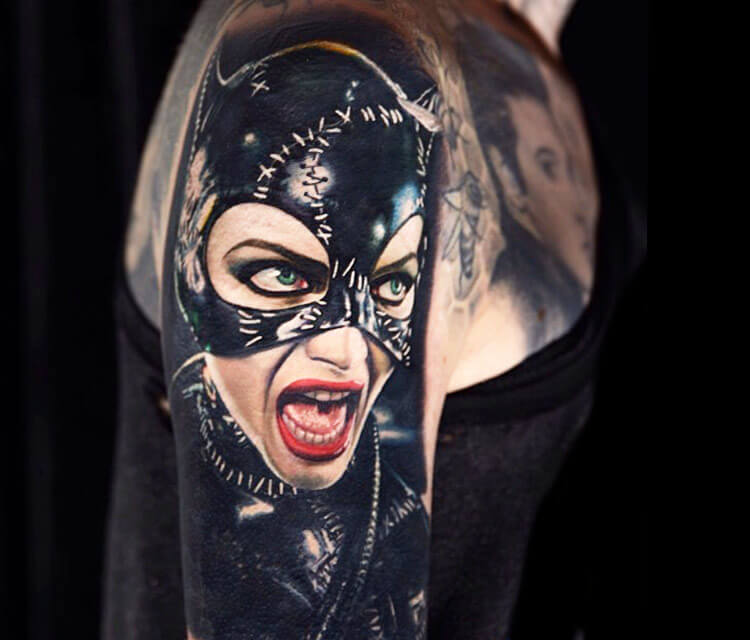 Catwoman by tattoo artist Nikko Hurtado