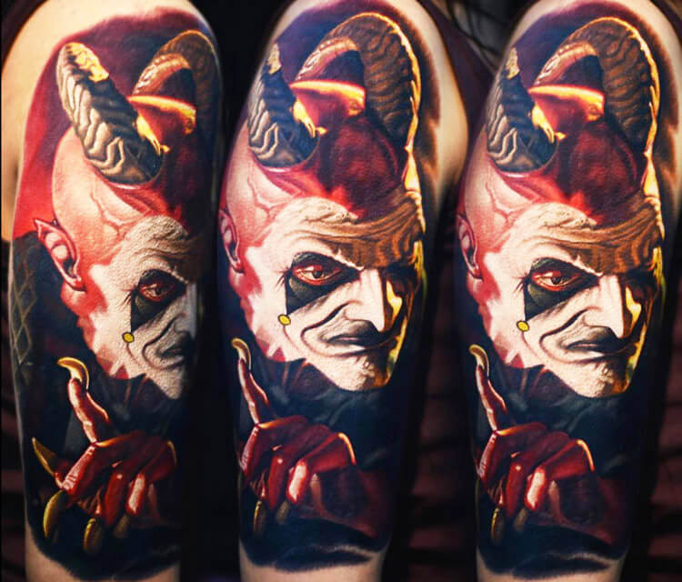 Devil scarnival tattoo by Nikko Hurtado