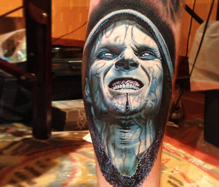 Emperor Palpatine from Star Wars, tattoo by Nikko Hurtado