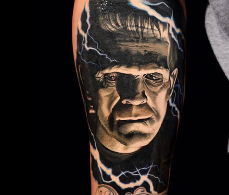 Frankenstein tattoo by Nikko Hurtado