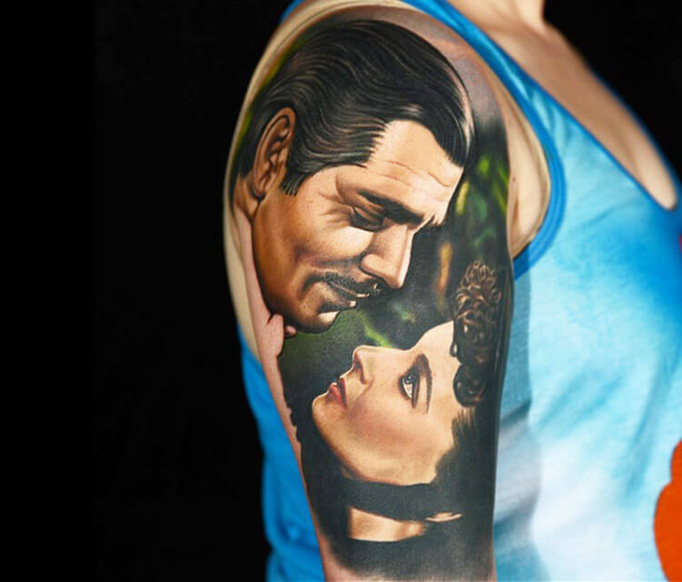 Frankly, my dear, tatoo by Nikko Hurtado