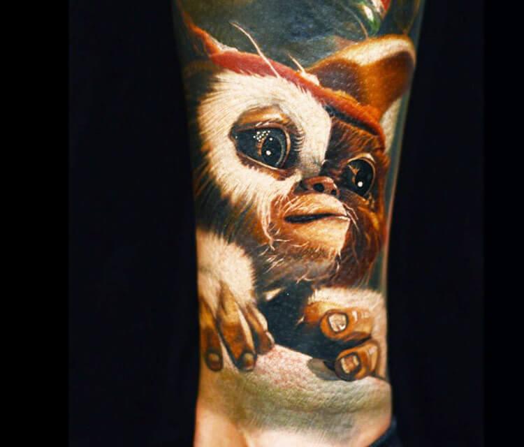 Gremlins Gizmo tattoo by Nikko Hurtado