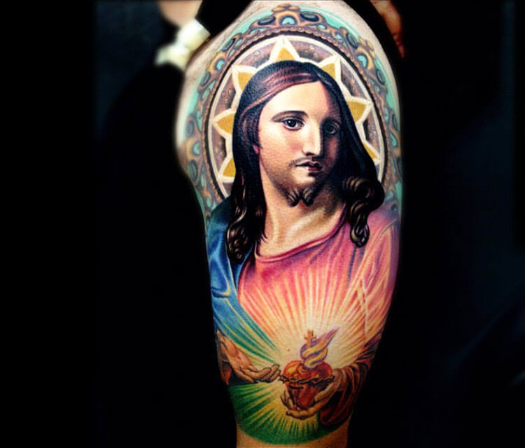 Jesus tattoo by Nikko Hurtado