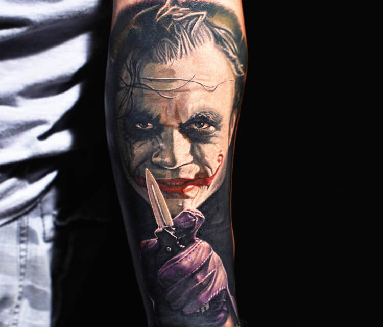 Joker tattoo by Nikko Hurtado