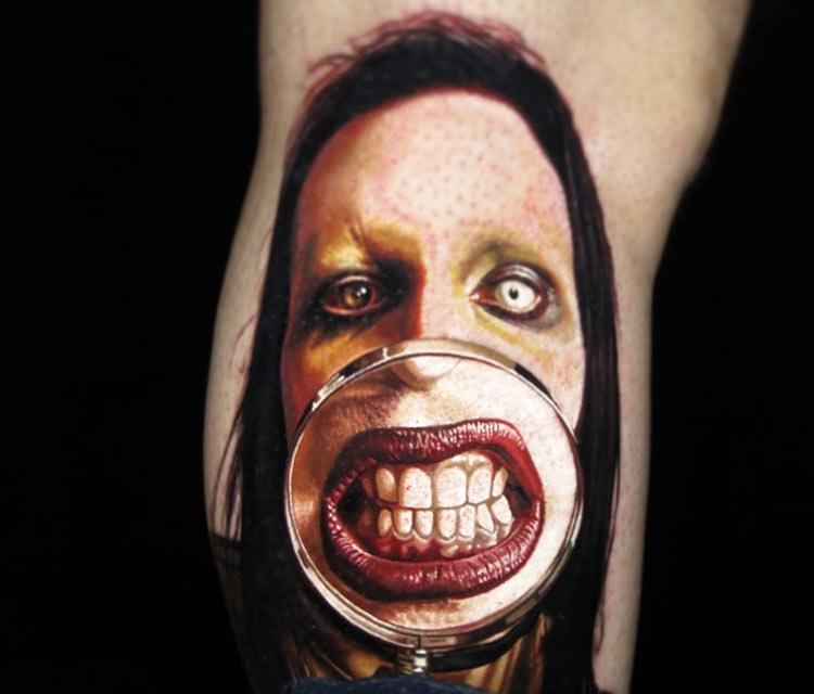 Marilyn Manson tattoo by Nikko Hurtado