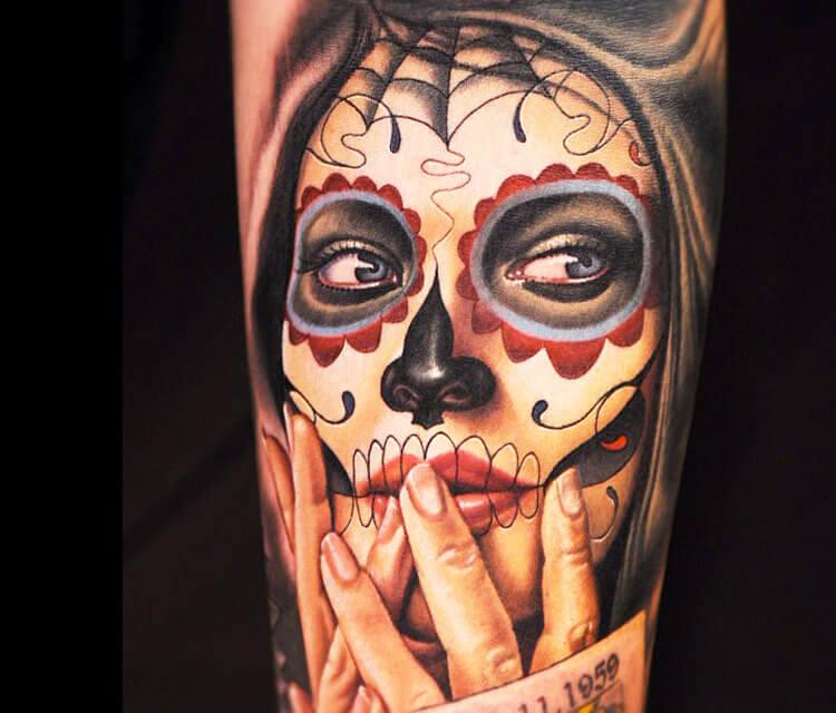 Muerte tattoo by Nikko Hurtado