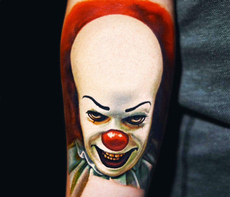 Penywise Clown tattoo by Nikko Hurtado