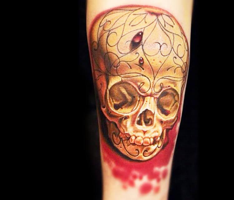 Skull tattoo by Nikko Hurtado