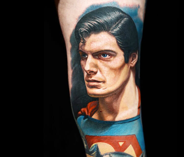 Superman tattoo by Nikko Hurtado