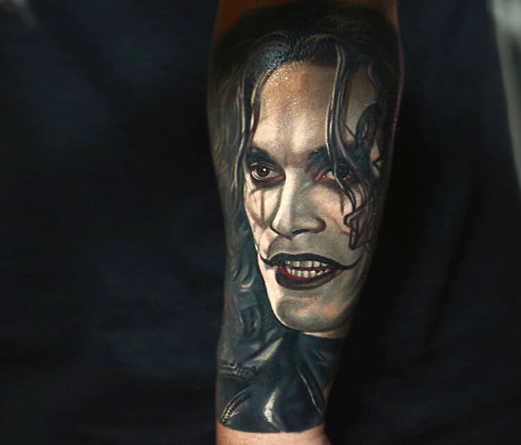 The Crow tattoo by Nikko Hurtado