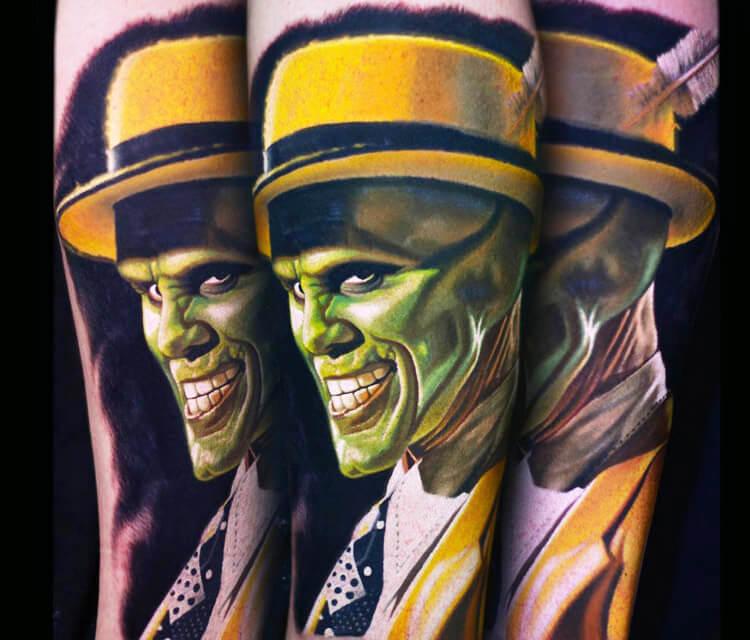 The Mask tattoo by Nikko Hurtado