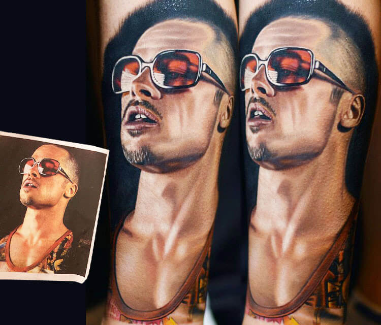 Tyler Durden tattoo by Nikko Hurtado