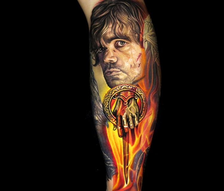 Tyrion Lannister tattoo by Nikko Hurtado