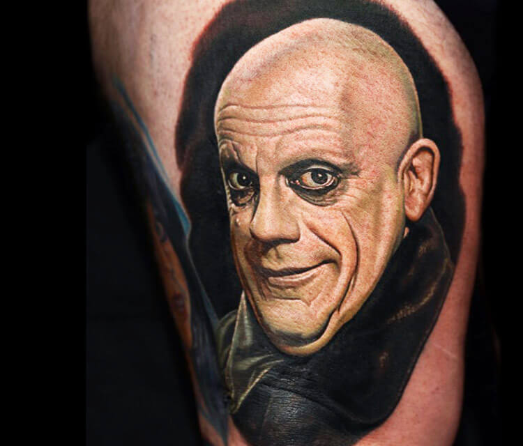 Uncle Fester tattoo by Nikko Hurtado