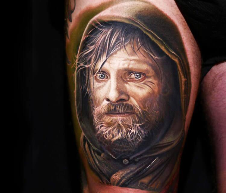 Viggo Mortensen tattoo by Nikko Hurtado
