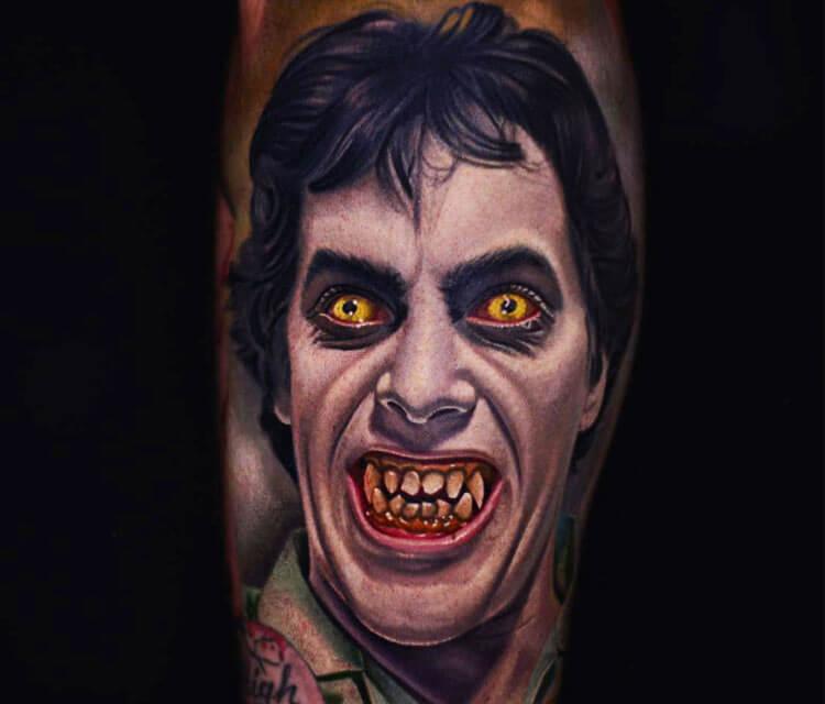 Werewolf in London tattoo by Nikko Hurtado