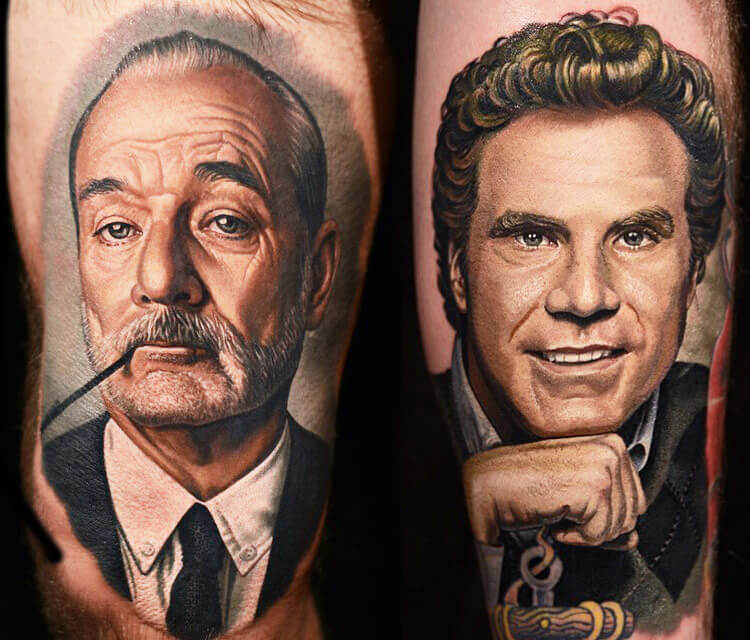Bill Murray & Will Ferrel by Nikko Hurtado