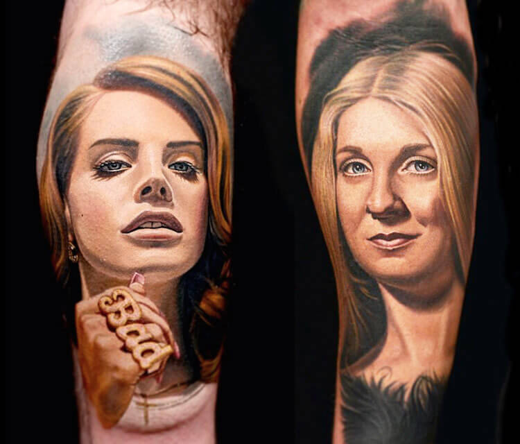 Womens portrait tattoo by Nikko Hurtado