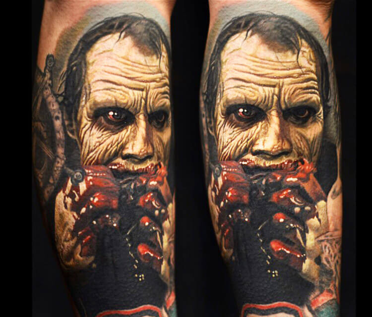 Zombie tattoo portrait by Nikko Hurtado