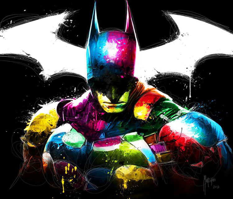 Batman mixedmedia by Patrice Murciano