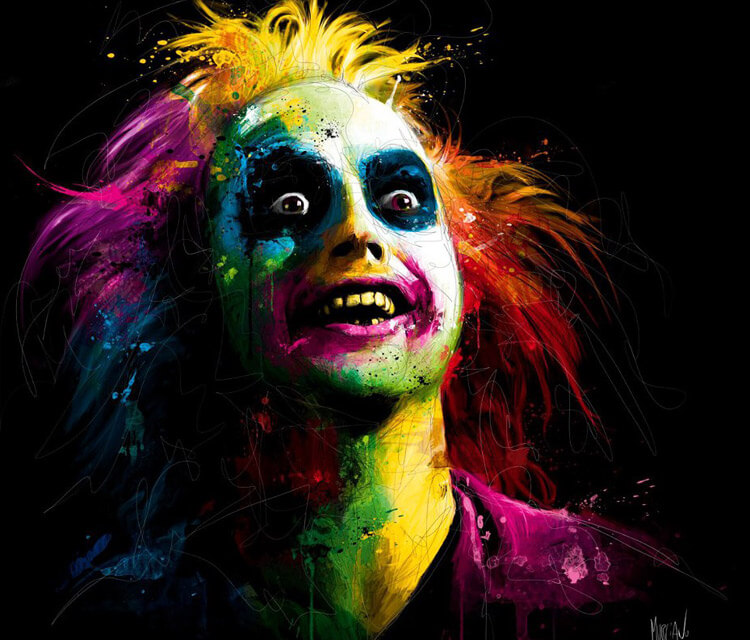 Beetlejuice, mixed media by Patrice Murciano