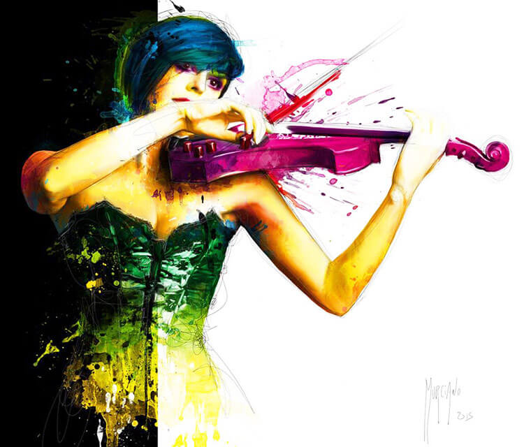Colors of Music mixedmedia by Patrice Murciano