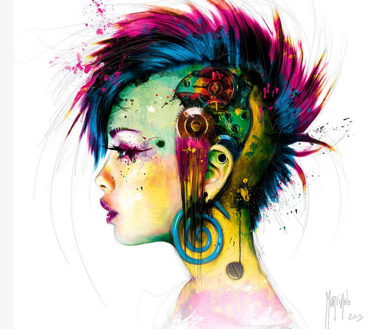 Cyber Punk mixedmedia by Patrice Murciano