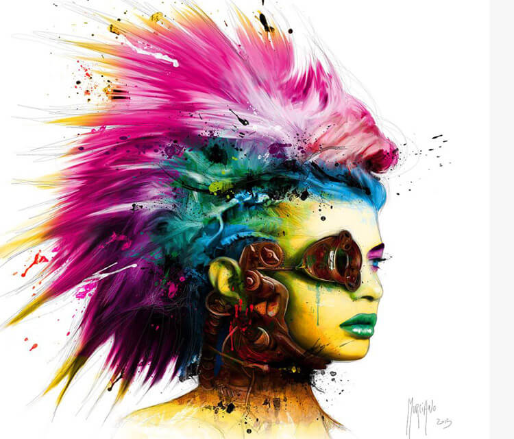 Cyber Punk 2 mixedmedia by Patrice Murciano