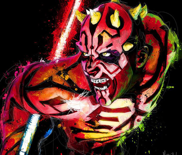 Darth Maual from Star Wars mixedmedia by Patrice Murciano