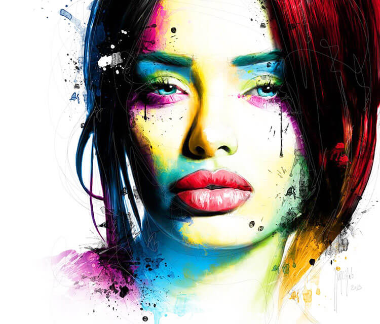 Elle painting by Patrice Murciano