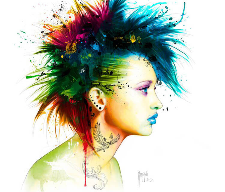 Fashion Punk mixedmedia by Patrice Murciano