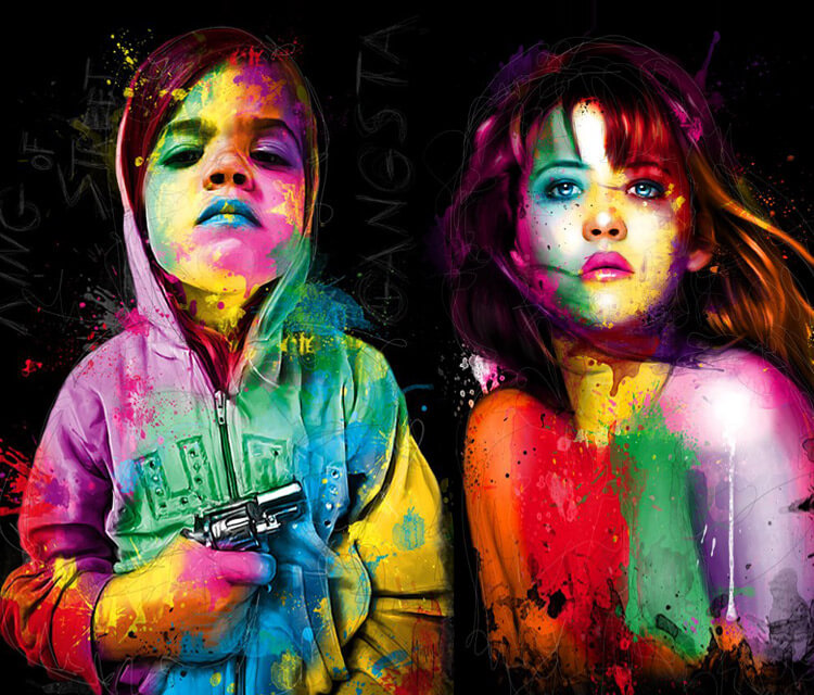 Gamgsta Child, mixed media by Patrice Murciano