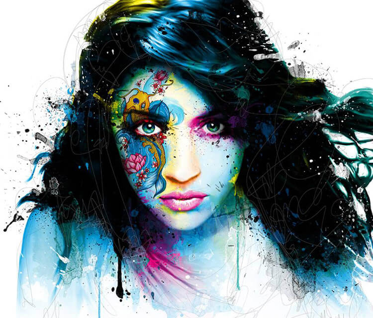 Portrait Girls de Water, mixed media by Patrice Murciano
